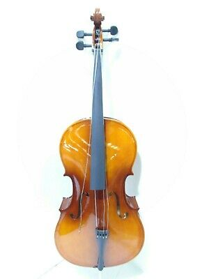 Student Full Size Cello with Case, Antique Fade, by Gear4music-DAMAGED- RRP £199