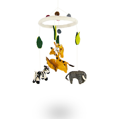 Jungle Animals Felt Mobile Cot Mobile Handmade Felt Baby Decoration