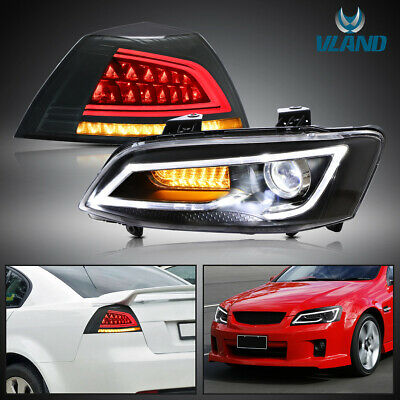 LED Sequential Head Lights and Tail Lights For 06-13 Holden Commodore VE series