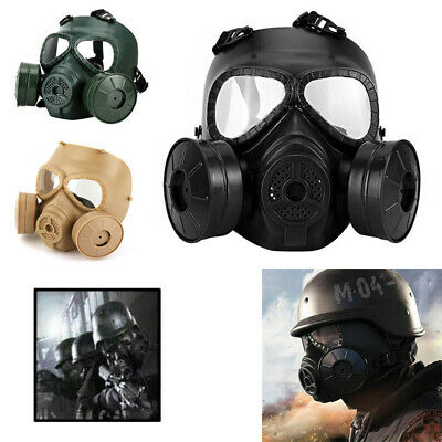 Double Filter Gas Mask Fan CS Edition Outdoor Perspiration Dust Face Guard M04