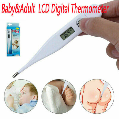 LCD Digital Thermometer Oral Ear Underarm Audible Fever Alarm for Baby&Adult kid