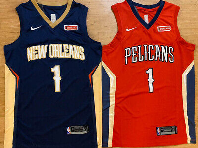 Zion Williamson #1 New Orleans Pelicans Mens Basketball Stitched RED/NAVY Jersey
