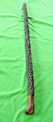 Old antique hand carved Ducks Head handle & gnarled wood  walking stick cane