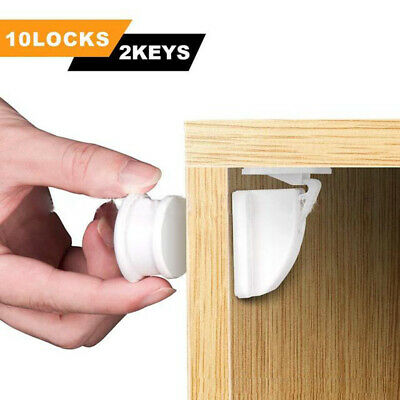 12 Set Invisible Child Safety Magnetic Lock Baby Pet Proof Cupboard Door Drawer