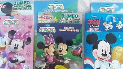 Lot of 4 Coloring Books - Disney Mickey Mouse Clubhouse ect. for Children