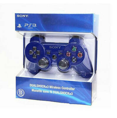 Original Sony Wireless PS3 Controller PlayStation3 DualShock3 Gamepad Blue CLR.