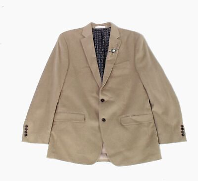 Lauren by Ralph Lauren Mens Blazer Beige Size 42 Two Button Wool $450 #002