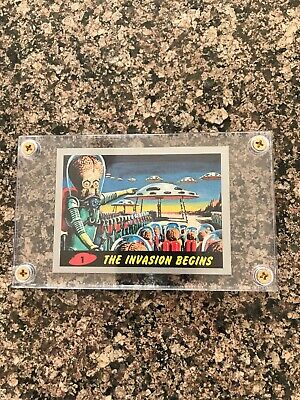 2012 TOPPS MARS ATTACKS HERITAGE 1962 Silver Border Parallel Card #1 MY LAST ONE