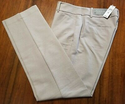 NWT Ann Taylor Factory Signature Straight Through Hips Beige Pants Size 10