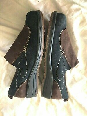Women's Martino Brown Black Slip ons Loafers Size 10 M Made in Canada