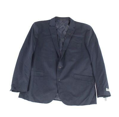 Kenneth Cole Mens Blazer Navy Blue Size 48 Two-Button Notched Collar $160- #813