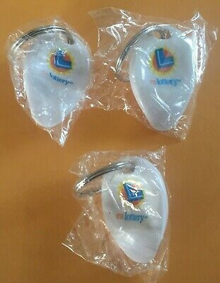 CALIFORNIA LOTTERY SCRATCHERS Logo KEY CHAIN Set Of 3 LUCKY CHARM Lotto NEW