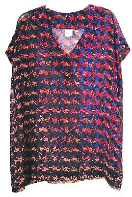 Cabi Womens Size Large  Blouse / Tank / Sleeveless Top -Red,Blue, Black