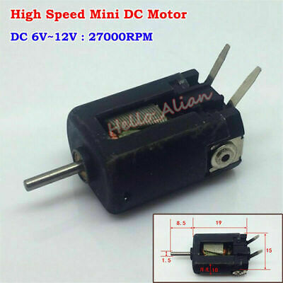Micro 15mm DC 6V-12V 27000RPM High Speed Magnetic Motor Toy RC Slot Car Boat L