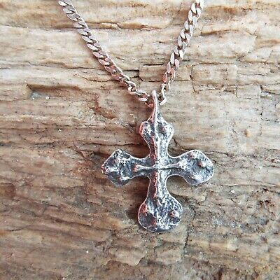 Vintage David Andersen Sterling Silver Viking Saga Cross Pendant Italy Norway