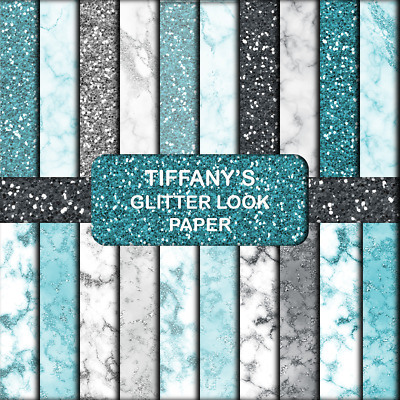 TIFFANY GLITTER LOOK SCRAPBOOK / CRAFT PAPER - 20 x A5 Pages