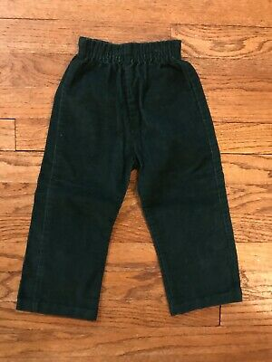 Vtg 80s Mothercare USA Made Green Corduroy Pants Baby 24M Toddler 2T Boys 36""