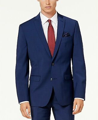 $425 Bar III Men's Slim-Fit Active Stretch Suit Jacket 40S Bright Navy