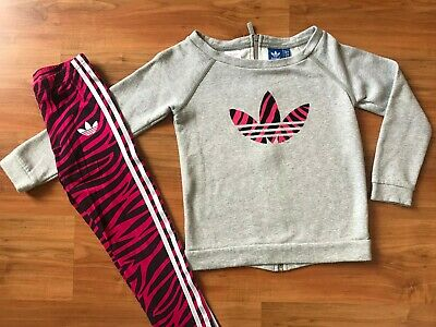 Girls ADIDAS ORIGINALS Gym Dance TRACKSUIT TOP & LEGGINGS (age10-11) *L@@K*
