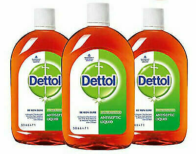 3 X Dettol Antiseptic Disinfectant liquid for First aid 60ml