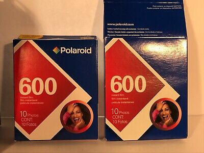 NOS SEALED 2 - 10 Packs Genuine Original Polaroid 600 Instant Film Expired 02/09