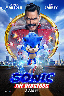 Sonic The Hedgehog 27x40 Original Theater Double Sided Movie Poster