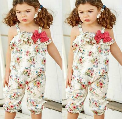 Baby Girls Kids Jumpsuit Summer Rompers Playsuit Toddler Bodysuit Outfit Clothes