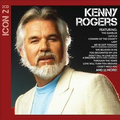 Icon 2 by Kenny Rogers (CD,  2 Discs, Capitol) Greatest Hits FREE SHIPPING