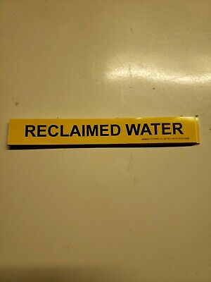 Reclaimed Water Pipe Markers