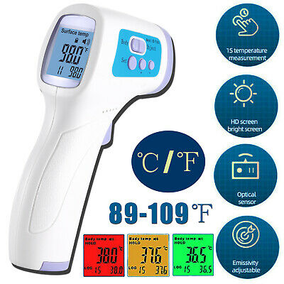 Medical Non-contact Infrared Digital Adult Thermometer Forehead Body Temperature