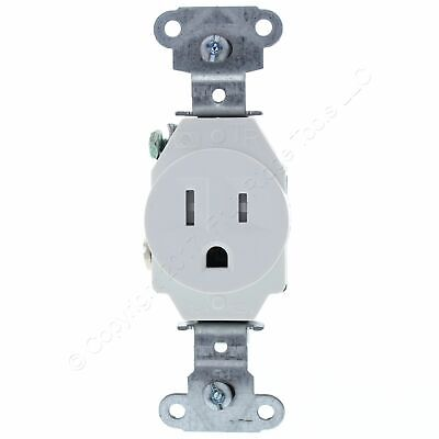 P&S White Tamper Resistant Commercial Single Receptacle Outlet 15A Bulk TR5251-W