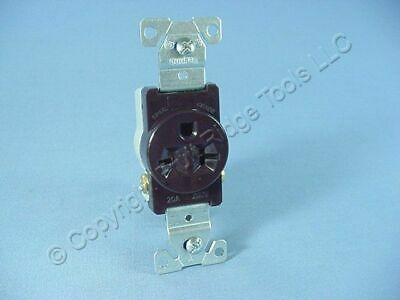 Cooper Brown COMMERCIAL Single Outlet Wall Receptacle NEMA 6-20R 250V 20A 1876B