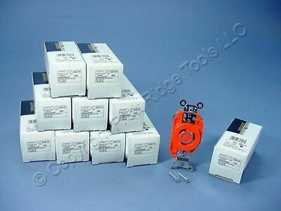 10 Leviton ISOLATED GROUND Twist Lock Receptacles NEMA L6-20R 20A 250V 2320-IG