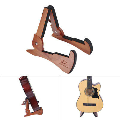 Wood Folding Electric Acoustic Bass Guitar Stand A Frame Floor Rack Holder R6I8