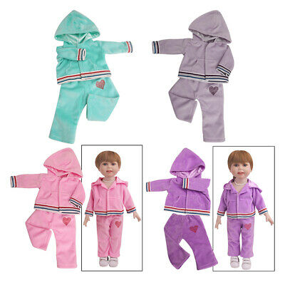 Cute Casual Doll Clothes Outfits Set for 18 Inch American Doll Accessory