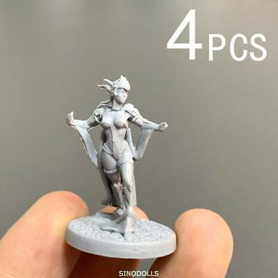 Lot 4 lady Fit For Dungeons & Dragon D&D Nolzur's Marvelous Miniatures figure