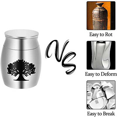 Mini Urn for Ashes Cremation Memorial Small Keepsake Ash Container Metal Jar