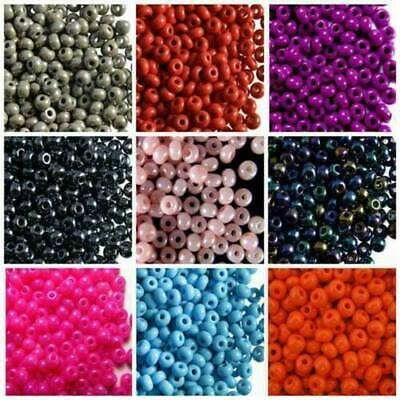 Lots 2500PCS Economical 11/0 Rocaille 1.8mm Small Round Glass Seed Beads DIY~