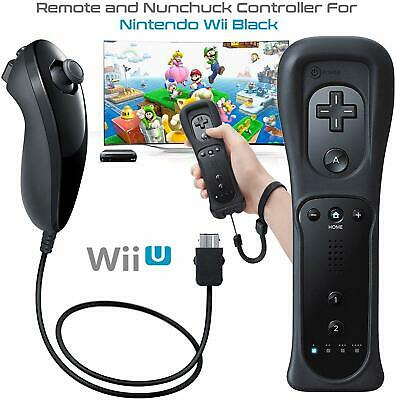 2 in 1 Remote Motion Plus Inside Controller & Nunchuk For Nintendo Wii Kontrolle