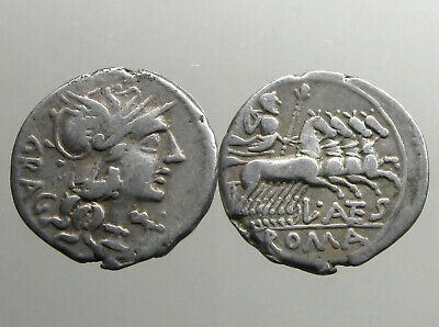 ANTESTIA 9 SILVER DENARIUS_______Roman Republic_______JUPITER WITH THUNDERBOLT