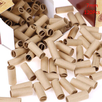 120x/box Pre rolled natural unrefined cigarette filter rolling paper tips 7mm_QE
