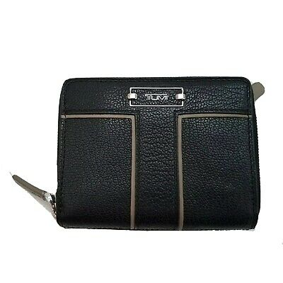Tumi Zip around Travel wallet black leather continental 271403 small