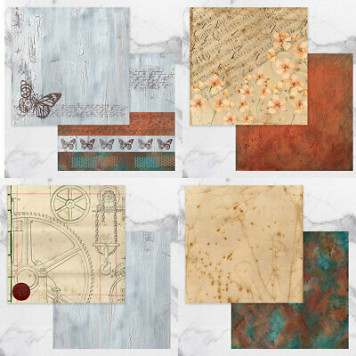 """Couture Creations Steampunk Dreams Paper Collection  12""""x12"""", 8pk"""