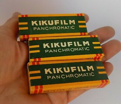 VTG 3 Boxes Kikufilm PANCHROMATIC Sub-Miniauture camera film 14x14 mm JAPAN ROLL