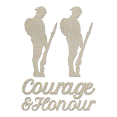 Couture Creations Lest We Forget Chipboard Courage and Honour Set  5pc