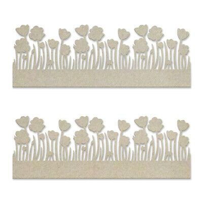 Couture Creations Lest We Forget Chipboard Poppy Borders Set  2pc
