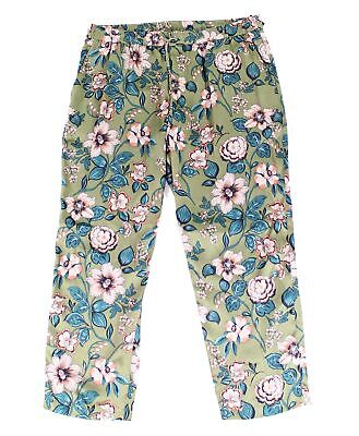 Lauren by Ralph Lauren Green Women's Size 16 Floral Pants Stretch $115 #345