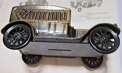 Vintage BANTHRICO Metal Car Bank 1917 Dearborn Federal Credit Union Boxed