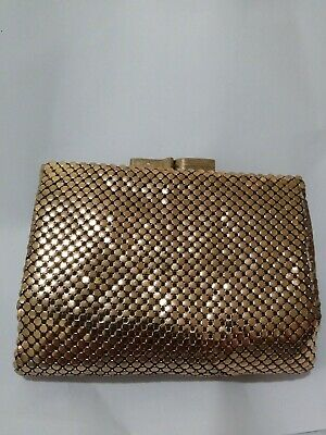 Vintage Gold Glomesh Tri Fold Wallet And Coin Purse - Credit Card Slots