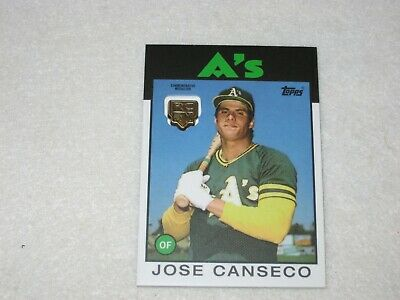 Jose Canseco  2020 Topps Series 1 Rookie Logo Medallion Card Athletics